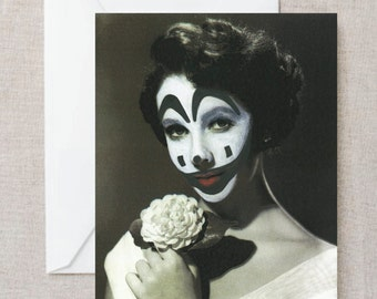 Vintage Post Card Antique Photograph Woman Juggalo Funny