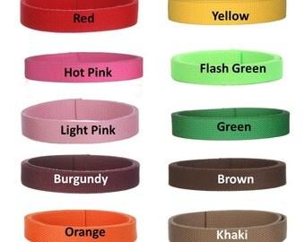 4 yards Cotton Webbing  1 inch You Pick Colors Key Fobs Belts Purse Bag Straps Leash