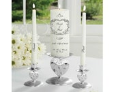 Personalized wedding candles, Unity Candles Personalized, Bride & Groom Candles, Wedding Ceremony Candles
