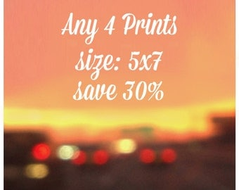 SALE - Any four 5x7 Prints - 30% off