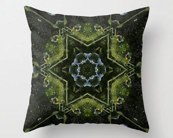 Frog Kaleidoscope Throw Pillow, Photo Throw Pillow, Throw Pillow, Frog Pillow