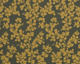 Mustard Yellow Floral Upholstery Fabric - Dark Gold Heavyweight Furniture Fabric - Gold Floral Pillow Covers - Padded Headboard Fabric