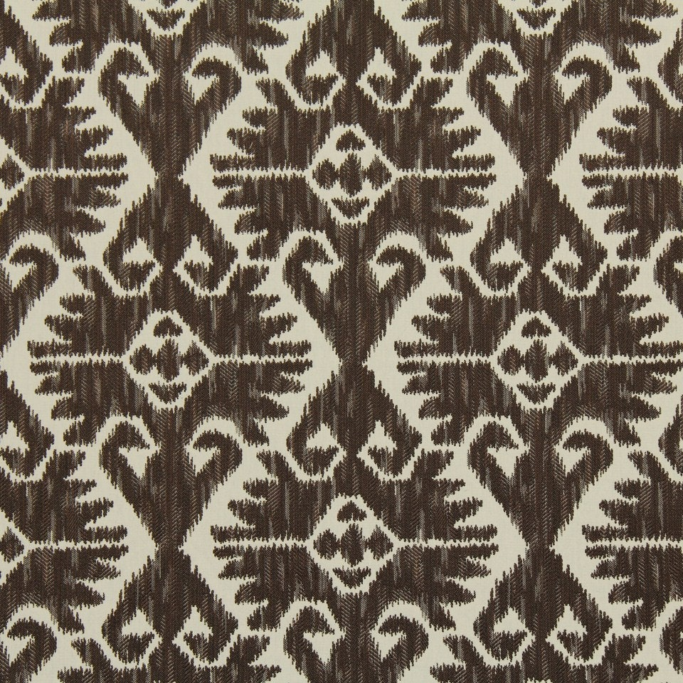 On sale dark brown woven ikat upholstery fabric for for Upholstery fabric for sale