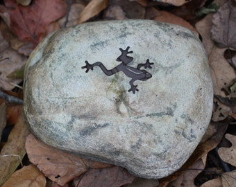 Frog Engraved Stone