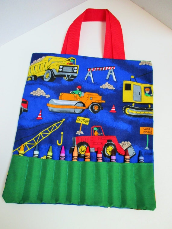 Construction Truck Crayon Bag - Holds 10 Crayons