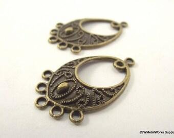Antiqued Brass Earring Findings, Brass Teardrop, 33 x 18 mm