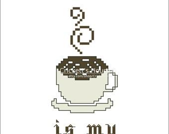 Cross Stitch PDF Pattern. Tea Spirit