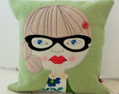Geek Girl Cushion Pillow