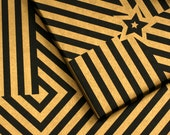 Gold&black wrapping paper