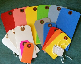 Colored shipping tag set