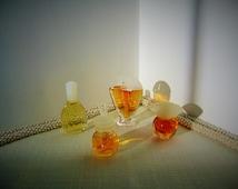 4 Mini Perfume Collectible Vintage Miniature Perfume Bottles  Vanderbilt Aubusson Internationales