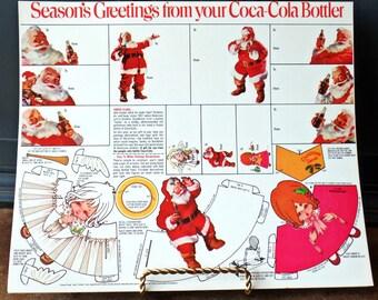 Vintage Christmas Coca Cola Advertising, Gift Tags, Package Decoration, Santa, Angels, Ephemera, Collectible