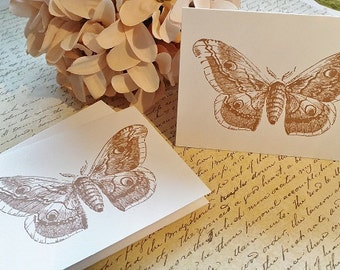 Note Cards - Vintage Butterfly - Mini Note Cards - Thank You Cards - Set of 12