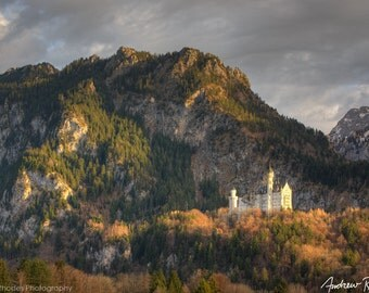 Neuschwanstein Sunset - Germany Landscape Photography - Man King Ludwig, Bavaria, Königsschlösser, Fairy Tale Castle Photo