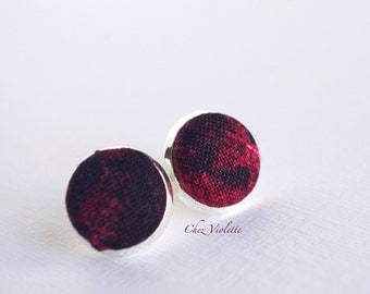red earring studs, deep red earrings, red blood cell, gothic jewelry, true blood, Vampire Diaries, Buffy, dracula