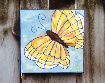 Wings Butterfly acrylic on canvas painting