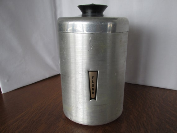 vintage kromex flour canister by granskitchen on etsy