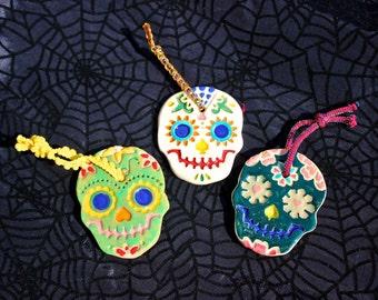 Ceramic Skull Ornaments