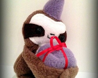 Handmade Cedric the baby Sloth Party Magnetic Plush