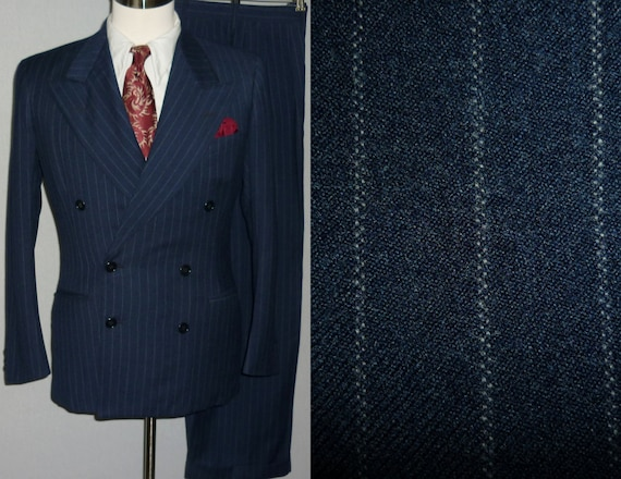1940S Double Breasted Mens Suit Dress Yy