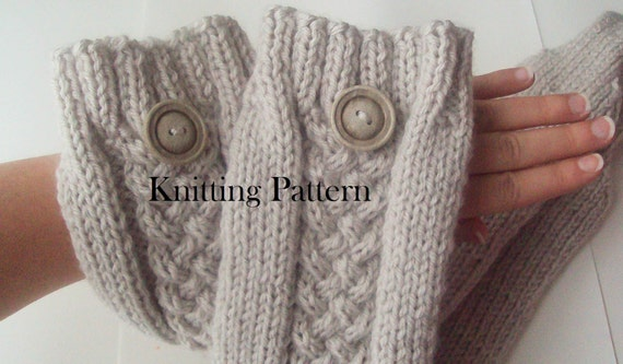 Knitting Pattern For Leg Warmers With Buttons : Knitting Pattern Leg Warmers Knit Linen by AniaPerroneDesign