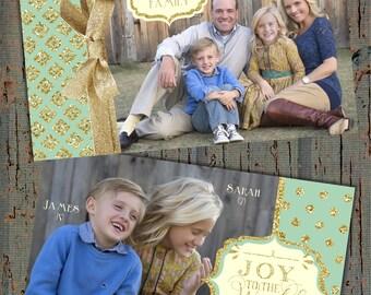 Glitter Christmas Card, Photo Christmas Cards, Glitter Holiday Cards, Gold Glitter Christmas Cards