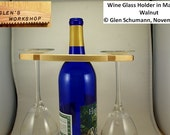 Glass Holder Wine Bottle Neck 6 Glass Holder Maple Walnut