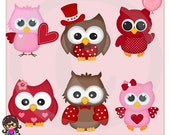 Whoo Loves You Owl Valentine Clip art  Clipart Graphics  Commercial Use