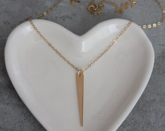 Gold filled spike necklace