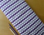 Stof Fabrics PURE - Vine Stripe White Purple - HALF YARD - Modern Quilting Sewing Craft Cotton Fabric