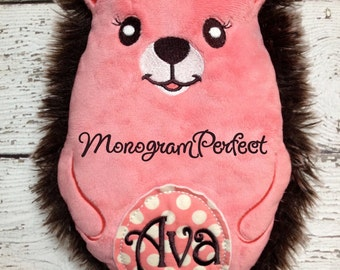Ava - ALREADY PERSONALIZED and READY to Ship - Super Soft Hedgehog Doll