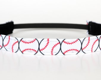 "Baseball Non-Slip Headband 1"", Baseball Headband, Sports Headband, Sports Fan, Team Gifts, Team Spirit, Gifts Under 5, Gifts Under 10"