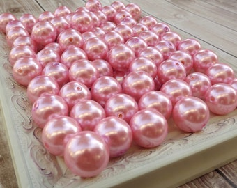 Pearl Pink  20mm chunky beads