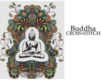 Buddha Doodle Cross Stitch Pattern