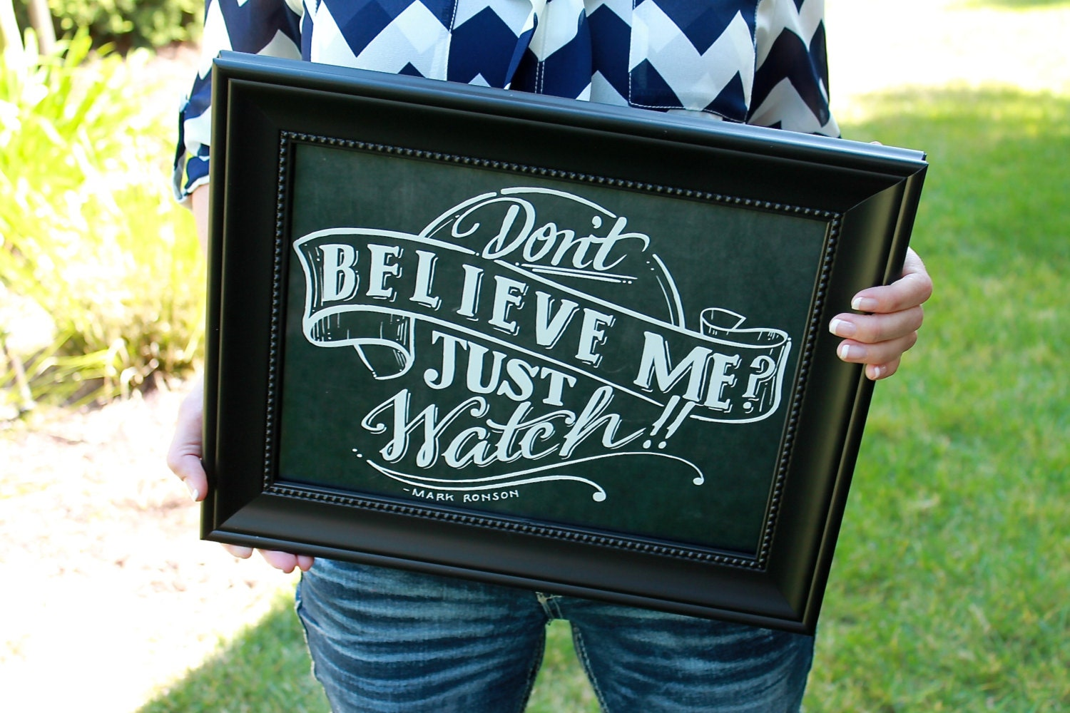 Don t believe me just watch 12x12 instant download by artsyquotes