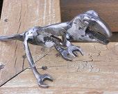 Dinosaur Metal Sculpture T-Rex Tyrannosaurus Yard Art Garden Art Found Objects Welded Art