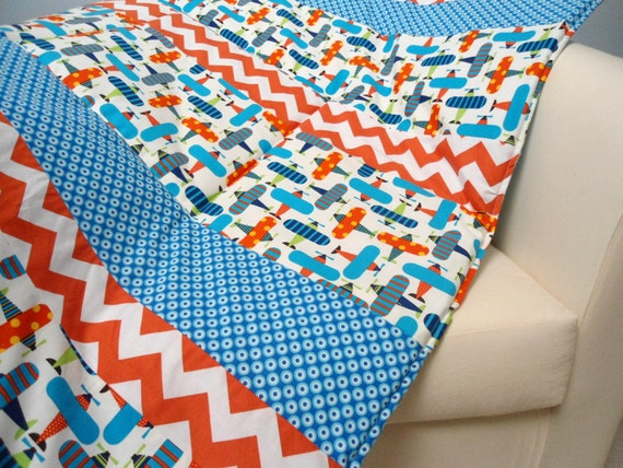 Baby play mat padded floor blanket personalization chevron for Floor quilt for babies