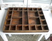 Wood Box Shadow box Printing Tray Rustic Woodland Display, Crafters, Wood shop, Man Cave
