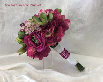 Wedding Flowers Bridal Bouquet Replica