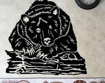Bear  metal art