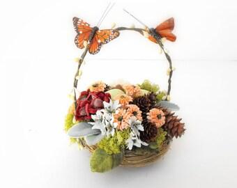 ON SALE!-Woodland Cake Topper-Rustic Wedding Cake Topper-Fairy Garden Cake Topper-Birds Nest Cake Topper-Floral Cake Topper-Floral Decor