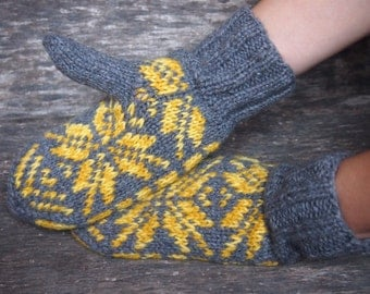 Wool Knitted Gloves, Wool knitted mittens, Warm gloves, Warm gift