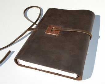 Custom Order Handmade Leather Journal Bound Copper Travel Gift (404)