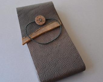 Handmade Bull Hide Bound Pocket Notebook Ledger (392B)