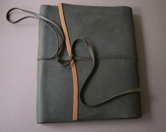Custom Order Leather Wedding Guestbook Planner Handmade Travel Journal Lined Pages (421B)
