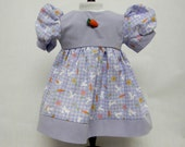 Easter Bunny Purple Dress For 18 Inch Dolls Like The American Girl