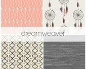 Dreamweaver Crib Bedding Set, Dream Catcher Nursery Bedding, Customizable Baby Bedding Set