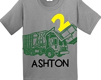Garbage truck shirt, garbage truck birthday, garbage truck, garbage truck party, trash truck birthday, truck birthday