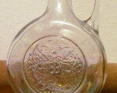 Iridescent Clear Carnival Glass Syrup Bottle without Cork