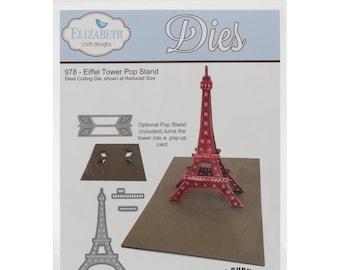 EIFFEL TOWER POPUP Die -Elizabeth Crafts  for Cuttlebug Sizzix or Other Machines - NeW !!